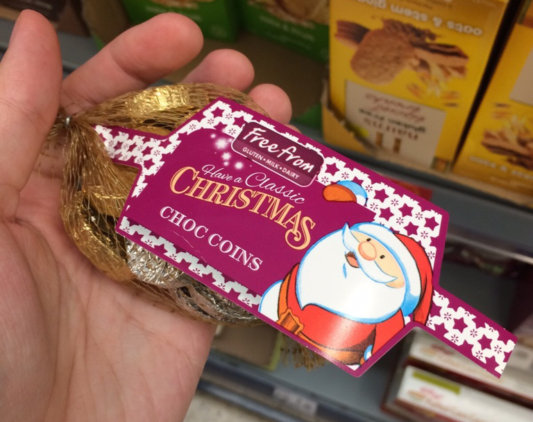 ASDA Christmas Free From Choc Coins