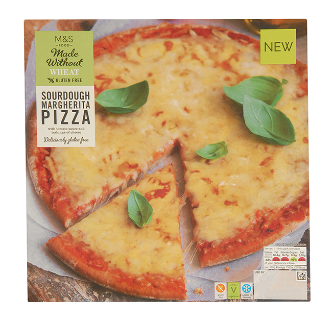 marks and spencer gluten-free pizza