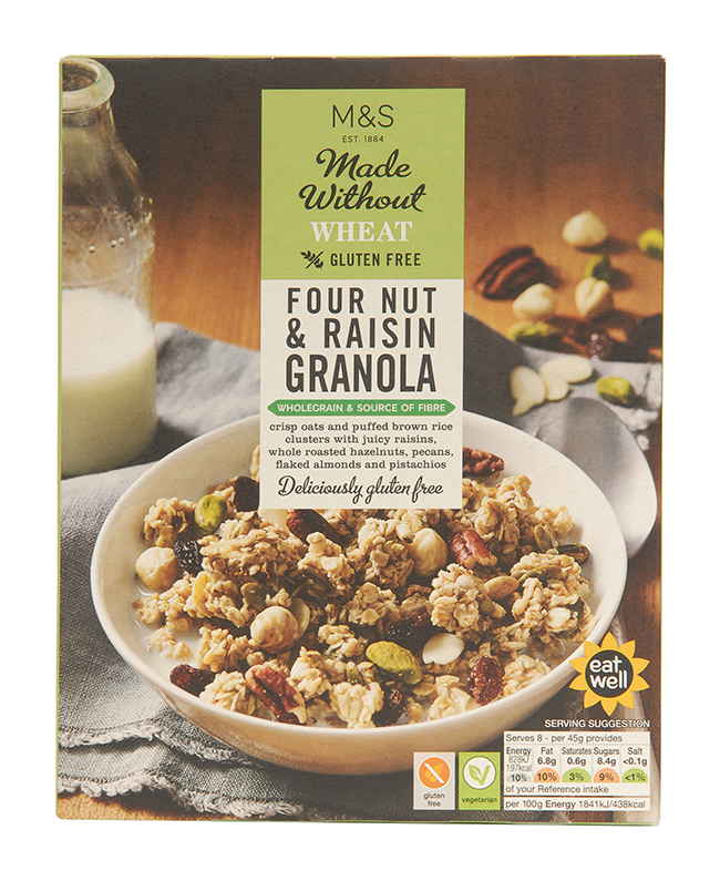 Marks & Spencer gluten-free cereal