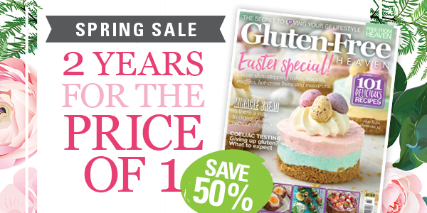Gluten-Free Heaven magazine - Spring Sale subscription offer