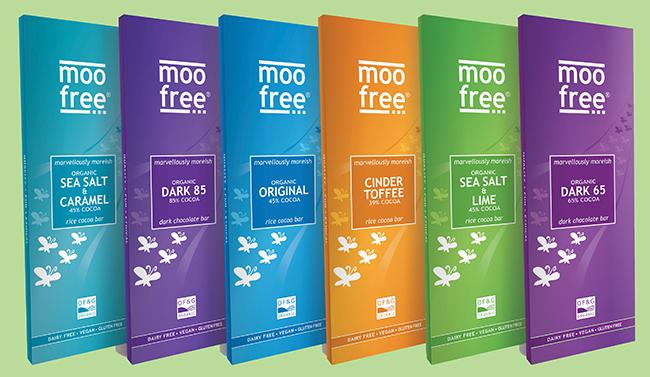moo free premium dairy-free chocolate bars