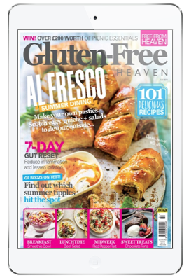 gluten-free heaven app on iPad