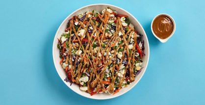 Peanut cauliflower rice salad
