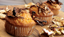 Gluten-free apple chip muffins