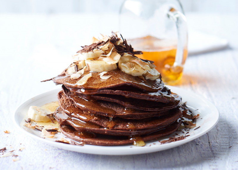 Gluten-free chocolate pancakes