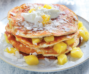 Pineapple coconut pancakes