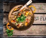Pork, Spanish Persimon® and Cider Casserole