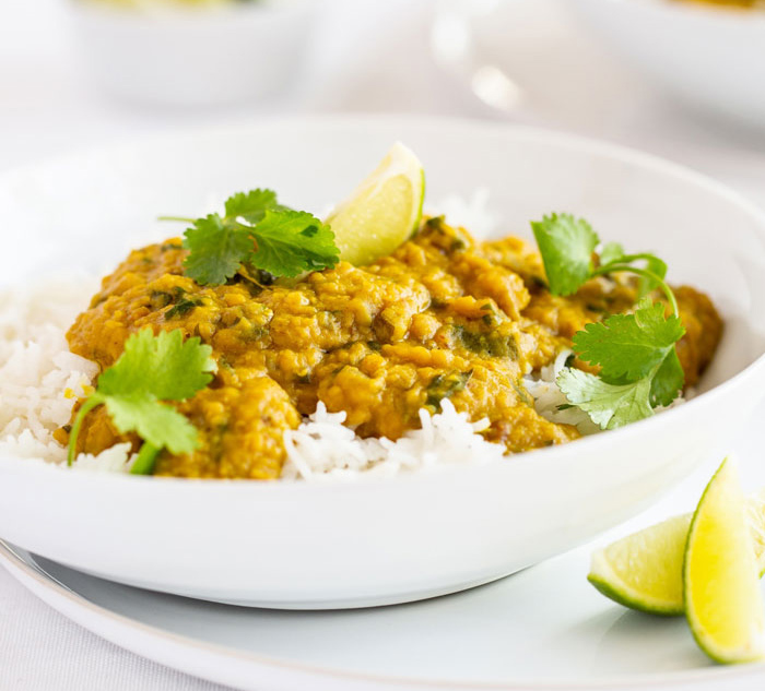 Red lentil coconut curry