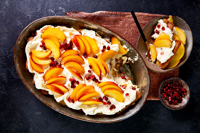 South African Peach & Amaretto Tiramisu