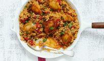 Chicken rice pot
