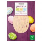 Tesco Free From White Chocolate Egg with Strawberry Pieces