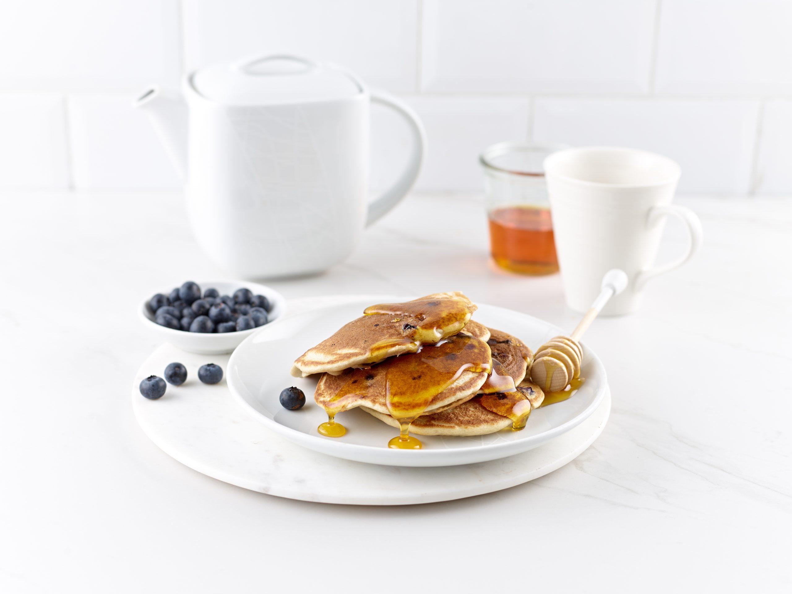 Gluten Free Buckwheat and Blueberry Breakfast Pancakes