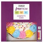 Tesco Free From Confetti Cake