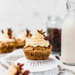 Dirty Chai Raisin Cupcakes